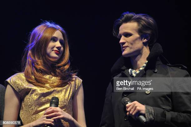 Doctor Who stars Matt Smith and Karen Gillan switch on Cardiff Christmas Lights and mark the start of festivities for the Welsh capital