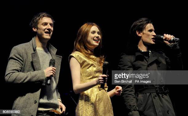 Doctor Who stars Matt Smith Karen Gillan and Arthur Darvill switch on Cardiff Christmas Lights and mark the start of festivities for the Welsh capital