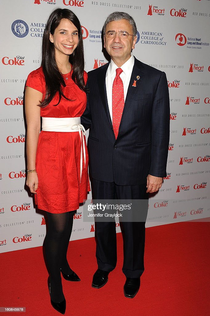 Doctor William A. Zoghbi (R) and daughter Roula attend The Heart Truth 2013 Fashion at Hammerstein Ballroom on February 6, 2013 in New York City.