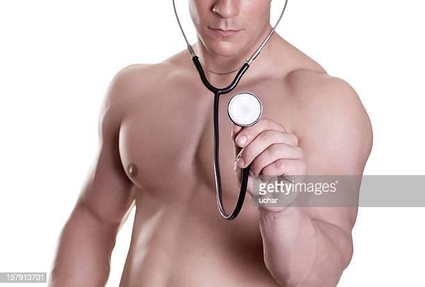 Medico con un bellissimo corpo