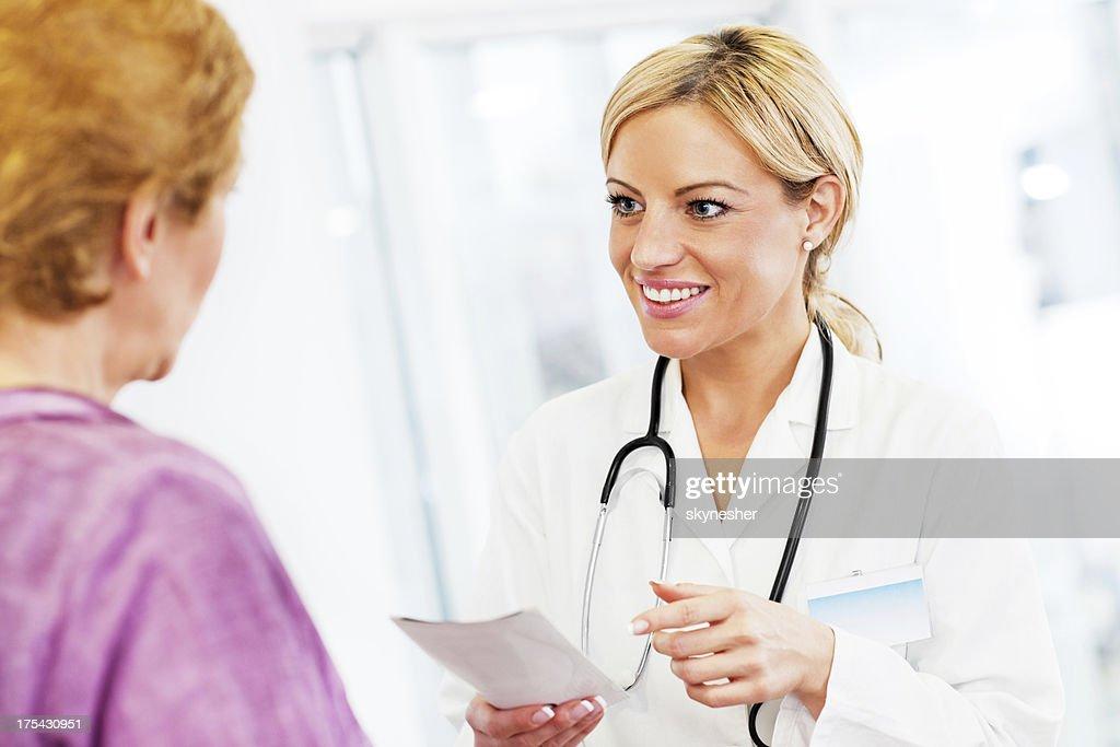 Doctor with prescription. : Stock Photo