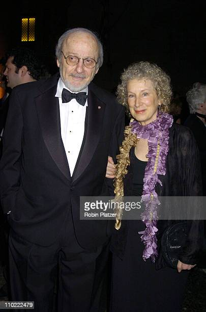 EL Doctorow and Margaret Atwood during The 2005 PEN Montblanc Literary Gala at The American Museum of Natural History in New York City New York...