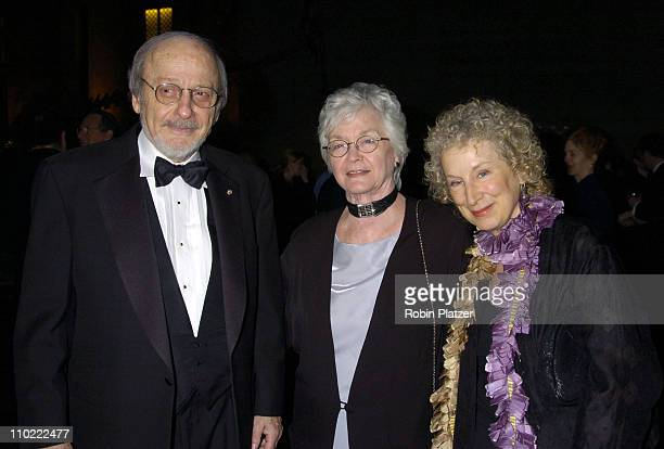 EL Doctorow wife Helen and Margaret Atwood during The 2005 PEN Montblanc Literary Gala at The American Museum of Natural History in New York City New...