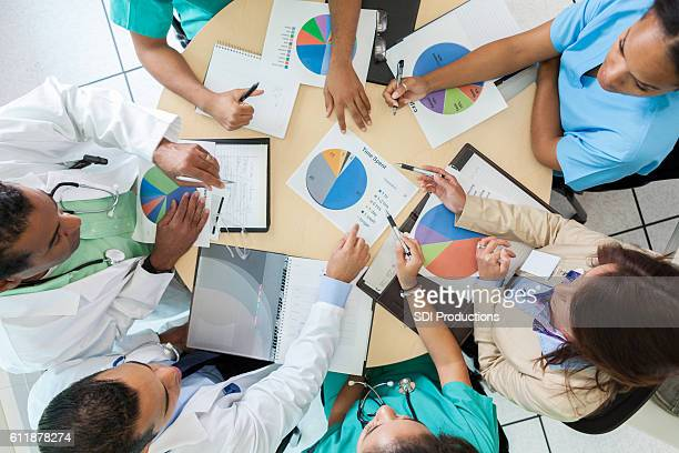 Doctors and hospital administrator review finances