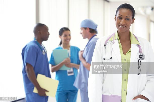 Doctors and nurses in a hospital