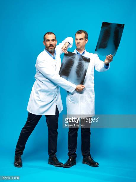 Doctors and TV presenter Xander and Chris Van Tulleken are photographed for the Daily Mail on August 31 2017 in London England