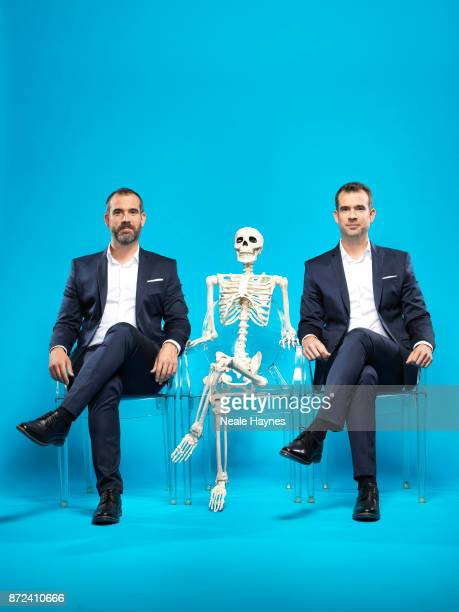 Doctors and TV presenters Xander and Chris Van Tulleken are photographed for the Daily Mail on August 31 2017 in London England