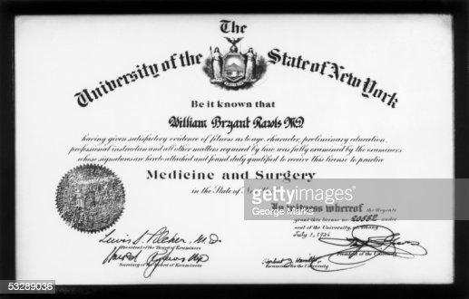 Doctor's diploma