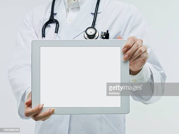 Doctors examined using the mobile tablet PC