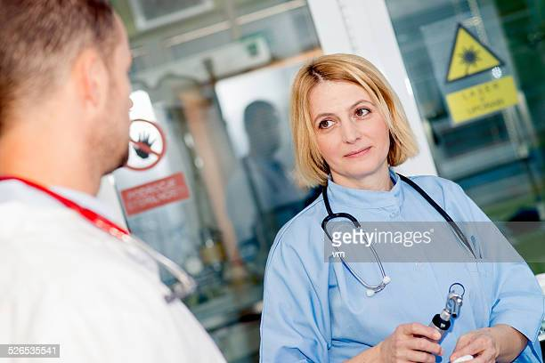 Doctors in a Laboratory
