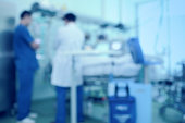 Doctors in the ward. Medical blurred background