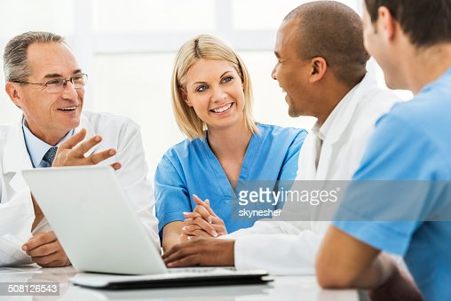 Doctors on a meeting.