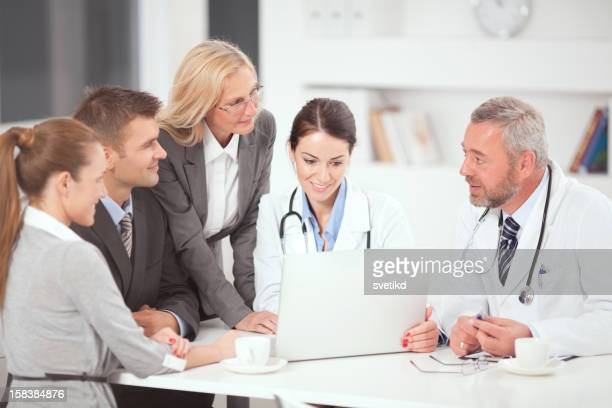 Doctors on business meeting.