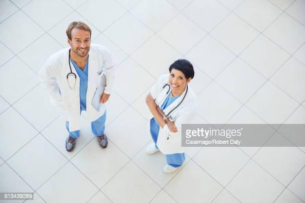 Doctors smiling in hospital