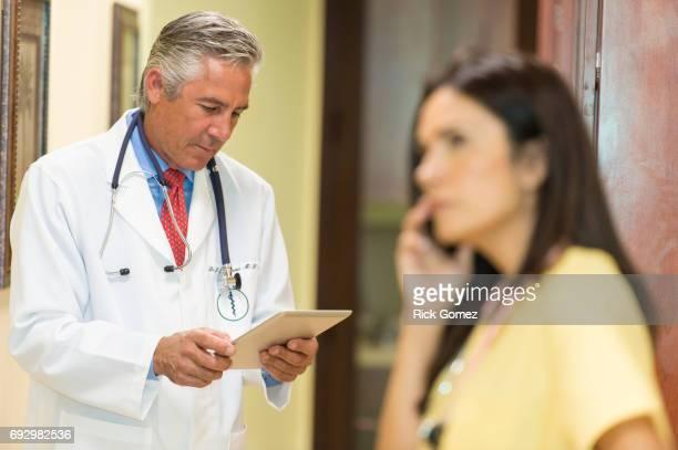 Doctors using modern technology