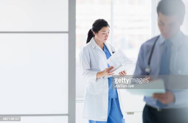 Doctors working in hospital