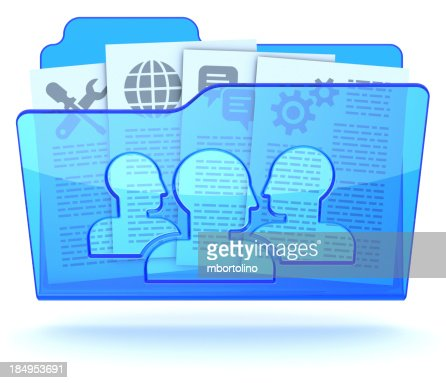 Document collaboration shared folder stock photo getty for Document collaboration app