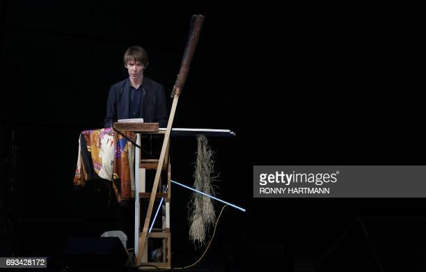 Documenta 14 art director Adam Szymczyk speaks during the Documenta 14 art exhibition opening in Kassel on June 7 2017 Documenta 14 takes place from...