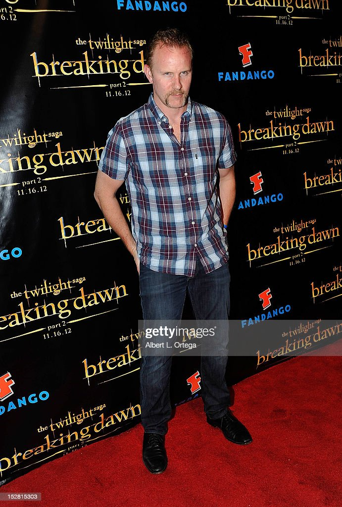 Documentarian Morgan Spurlock arrives for Summit Entertainment's 'The Twilight Saga: Breaking Dawn - PART 2 VIP - Comic-Con Celebration - Arrivals held at The Hard Rock Hotel on July 11, 2012 in San Diego, California.