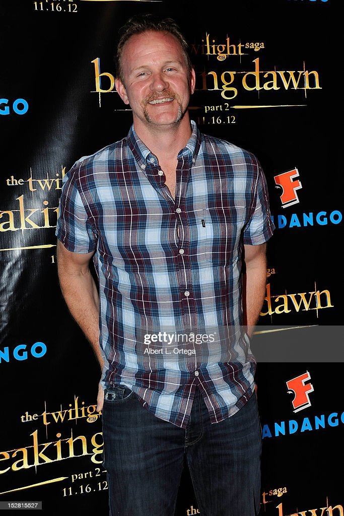 Documentarian <a gi-track='captionPersonalityLinkClicked' href=/galleries/search?phrase=Morgan+Spurlock&family=editorial&specificpeople=212719 ng-click='$event.stopPropagation()'>Morgan Spurlock</a> arrives for Summit Entertainment's 'The Twilight Saga: Breaking Dawn - PART 2 VIP - Comic-Con Celebration - Arrivals held at The Hard Rock Hotel on July 11, 2012 in San Diego, California.