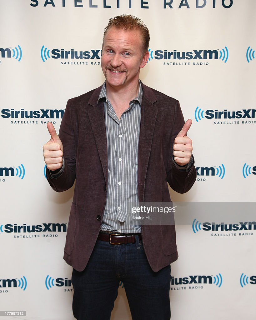 Documentarian <a gi-track='captionPersonalityLinkClicked' href=/galleries/search?phrase=Morgan+Spurlock&family=editorial&specificpeople=212719 ng-click='$event.stopPropagation()'>Morgan Spurlock</a> visits the SiriusXM Studios on August 26, 2013 in New York City.