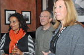Documentary Film Program Fund Director Tabitha Jackson president of the Open Society Foundations Christopher Stone and Sundance Institute executive...