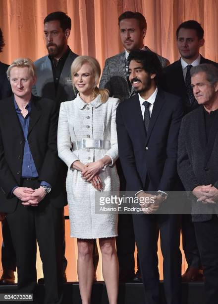Documentary filmmaker Dan Krauss actor Ryan Gosling Lyricists Benj Pasek and Guy Hendrix Dyas actress Nicole Kidman actor Dev Patel and Director Mel...