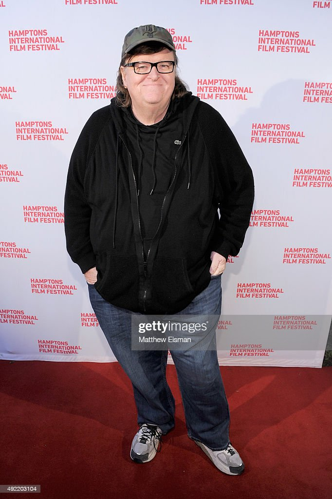 Documentary Filmmaker Michael Moore attends 'Where To Invade Next ' photo call during Day 3 of the 23rd Annual Hamptons International Film Festival on October 10, 2015 in East Hampton, New York.