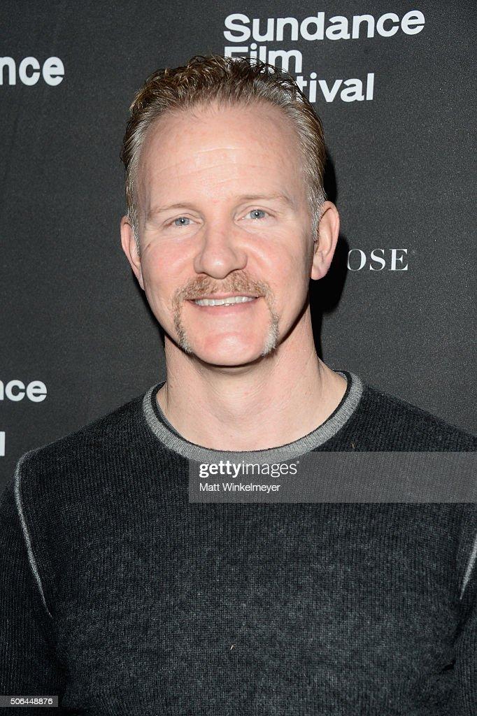 Documentary filmmaker Morgan Spurlock attends the Cinema Cafe during 2016 Sundance Film Festival at Filmmaker Lodge on January 23 2016 in Park City...