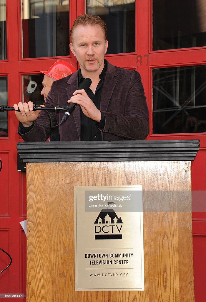 Documentary filmmaker Morgan Spurlock attends The DCTV Cinema Groundbreaking Ceremony at DCTV on May 7, 2013 in New York City.