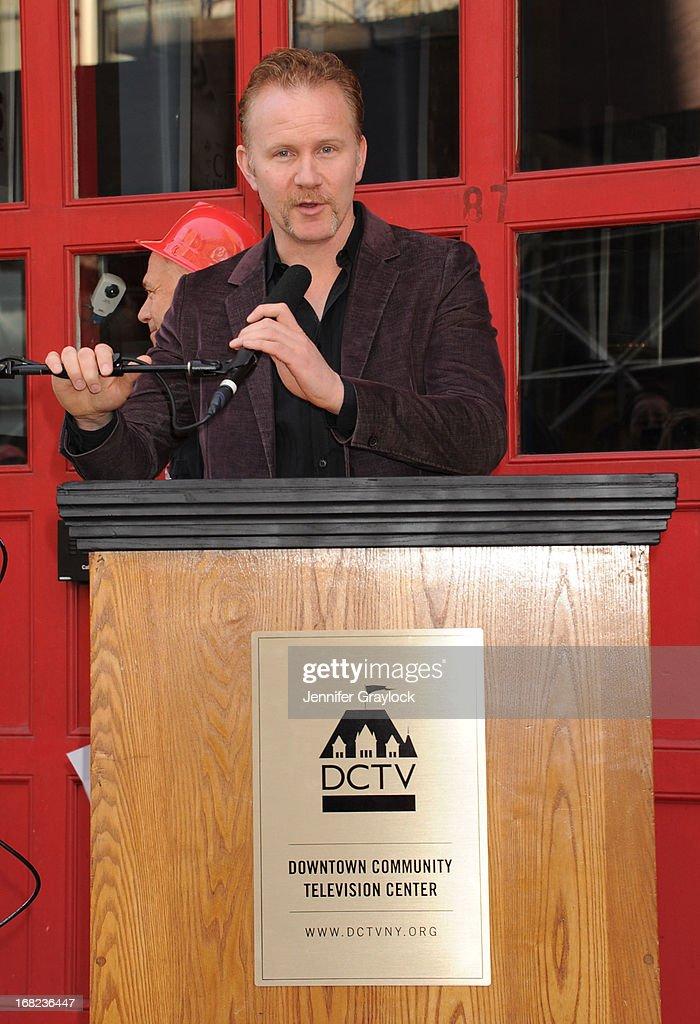 Documentary filmmaker Morgan Spurlock attends The DCTV Cinema Groundbreaking Ceremony at DCTV on May 7, 2013 in New York City.