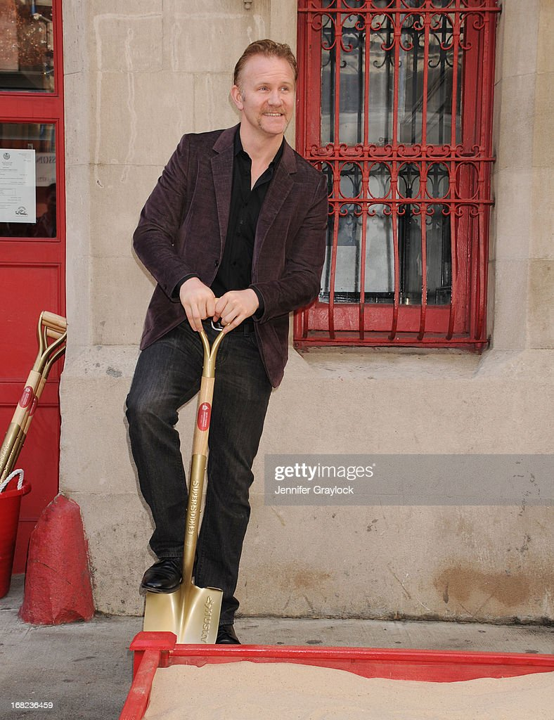 Documentary filmmaker <a gi-track='captionPersonalityLinkClicked' href=/galleries/search?phrase=Morgan+Spurlock&family=editorial&specificpeople=212719 ng-click='$event.stopPropagation()'>Morgan Spurlock</a> attends The DCTV Cinema Groundbreaking Ceremony at DCTV on May 7, 2013 in New York City.