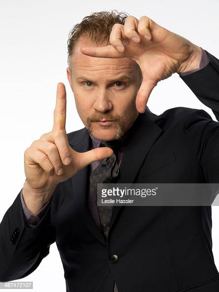 Documentary filmmaker Morgan Spurlock is photographed at the Tribeca Film Festival on April 21 2014 in New York City