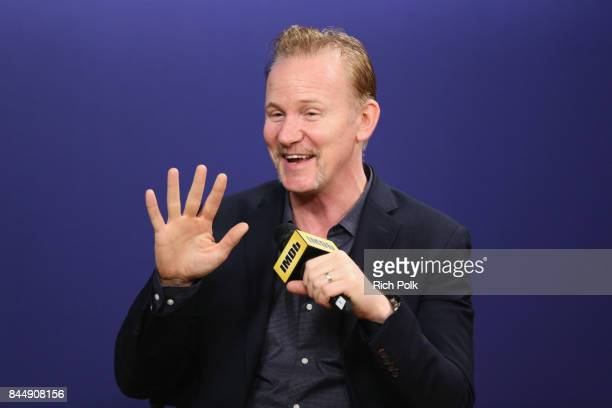 Documentary Filmmaker Morgan Spurlock of 'Super Size Me 2 Holy Chicken' attends The IMDb Studio Hosted By The Visa Infinite Lounge at The 2017...