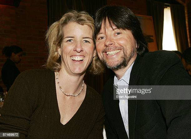 Documentary filmmakers Rory Kennedy and Ken Burns attend the Fifth Annual Tribeca Film Festival Jurors Luncheon at Tribeca Loft April 27 2006 in New...