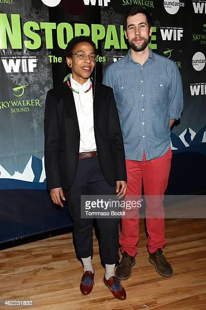 Documentary grant winners Lyric R Cabral and David Felix Sutcliffe attend the Women In Film Presents Ninth Annual Sundance Filmmakers Panel Presented...