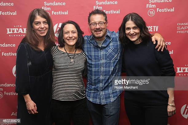 SVP Documentary Progamming at Home Box Office Nancy Abraham producer Bari Pearlman Sundance Film Festival Senior Programmer David Courier and...