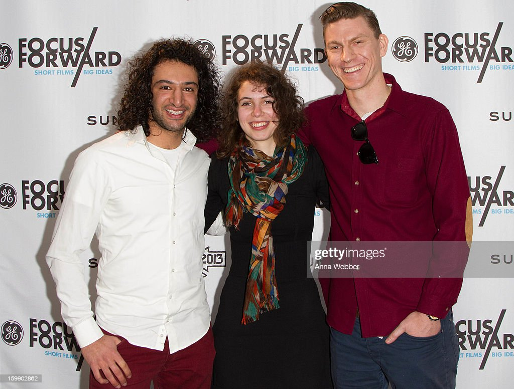 Documentary Short Films Finalists Massoud Hassani, Anna Meller, Callum Cooper arrive to GE / Focus Forward - Short Films Big Ideas Filmmaker Competition Awards Ceremony - 2013 Park City on January 22, 2013 in Park City, Utah.