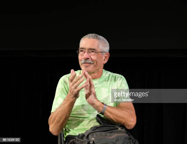 Documentary subject Bob Coomber leads Q and A after the screening of the film 4 Wheel Bob at the Santa Cruz Film Festival at Tannery Arts Center on...