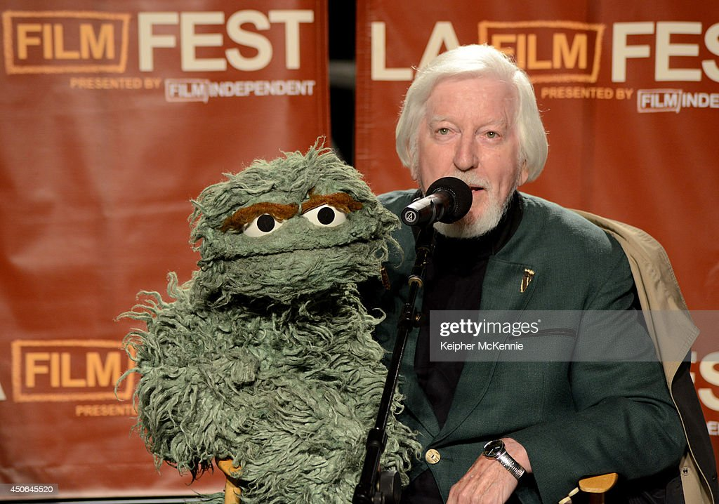 Documentary subject <a gi-track='captionPersonalityLinkClicked' href=/galleries/search?phrase=Caroll+Spinney&family=editorial&specificpeople=653956 ng-click='$event.stopPropagation()'>Caroll Spinney</a> speaks onstage at the premiere of 'I Am Big Bird' during the 2014 Los Angeles Film Festival at Grand Performances on June 14, 2014 in Los Angeles, California.