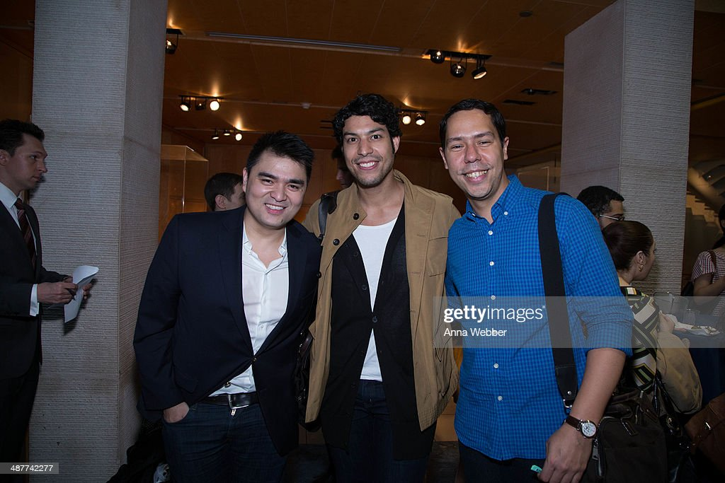 'Documented' Writer and Director Jose Antonio Vargas and friends Pedro Rodriguez and Leo Naut attend a Special Screening Of 'Documented' Co-Hosted By Asia Society And MTV at Asia Society on May 1, 2014 in New York City.