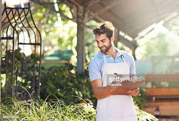 Dokumentation seine versorgung von Pflanzen