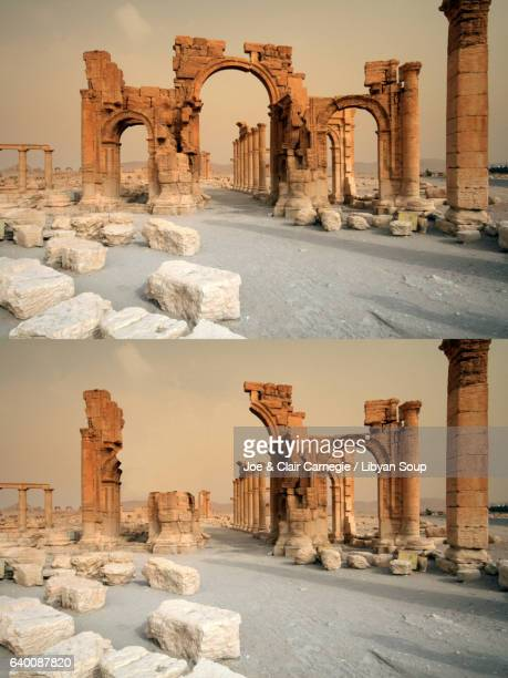 Documenting the Destruction of Palmyra's Arch of Triumph. Syria.