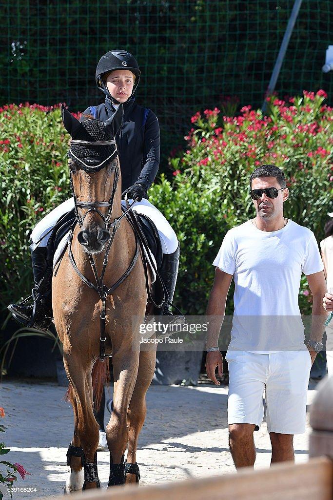 Doda De Miranda Neto and Viviane de Miranda attend International Longines Global Champion Tour Day 2 on June 10 2016 in Cannes France
