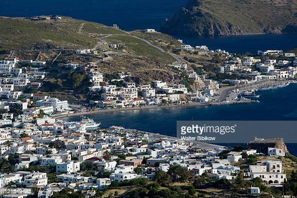 Dodecanese Islands-PATMOS-Skala: Morning view from Hora Hillside, Greece