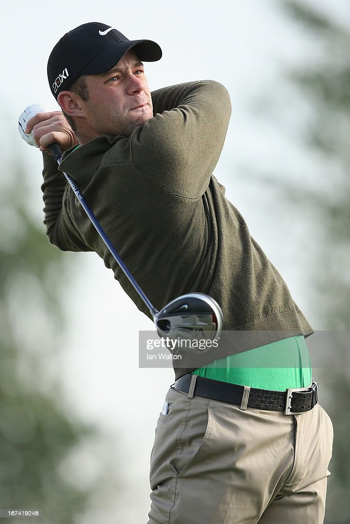 Dodg Kemmer of USA in action during the 2nd round of the Challenge de Madrid on the European Challenge Tour in El Encin Golf Course on April 25, 2013 in Madrid, Spain.