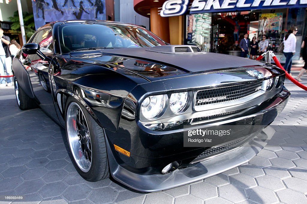 Dodge Challenger at Universal CityWalk 20th Anniversary event featuring 8 original cars from 'Fast & The Furious' movie franchise at 5 Towers Outdoor Concert Arena on May 23, 2013 in Universal City, California.