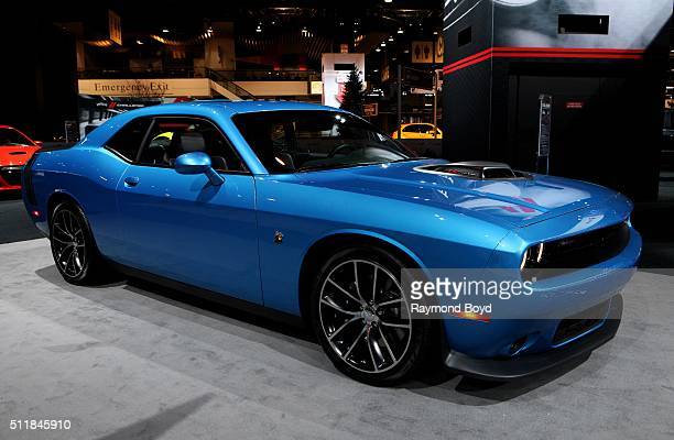 Dodge Challenger is on display at the 108th Annual Chicago Auto Show at McCormick Place in Chicago Illinois on February 11 2016