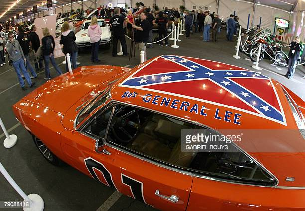 Dodge Charger dubbed 'The General Lee' from the TV series 'The Dukes of Hazzard' is displayed during the 37th Annual BarrettJackson Collector Cars...