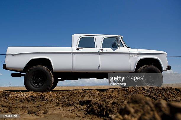 Dodge D200 truck stands near Malibu California US on Tuesday April 16 2013 Jonathan Ward owner and head designer of Los Angelesbased custom...